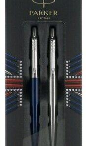 PARK 2033156 Royal Blue Ball Pen + Stainless Steel GEL