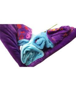 Double Duvet Cover Set Soft Mohair Double Face - Purple/Blue