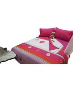 Double Duvet Cover Set - Pink Flower