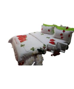 Double Duvet Cover Set - Sweet Strawberry Red
