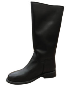 DIKA INTERNATIONAL Laceless Long Leather Boots For Men