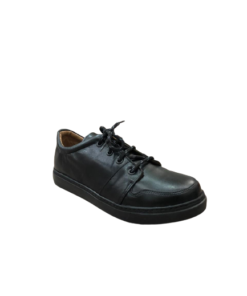 RALPH Casual Shoes Round Toe Black For Boys With Laces