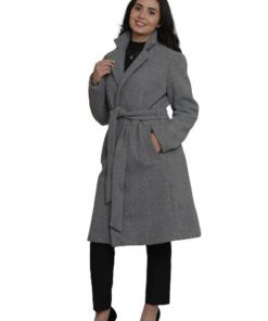 W-Collection Coat With Faux Fur Collar