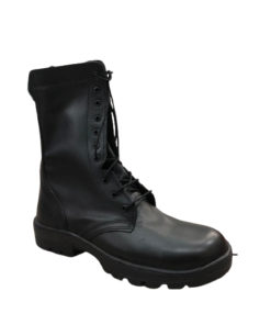 EAGLE PASS Mid-High Black Combat Boots For Men Round Toe