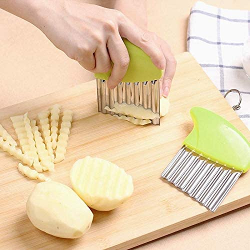 Stainless Steel Wavy Cutter Blade Tool For Potato Chips, Dough, Vegetables And Fruit