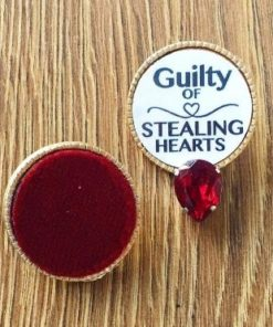 """""""Guilty Of Stealing Hearts"""" Red Swarovski Earring"""
