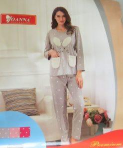 JOANNA Rabbit Themed Long Sleeves Top and Pants Ladies Pyjama Set