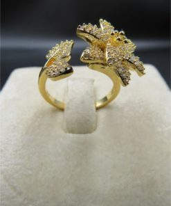NEOGLORY Ring Designed With Flower And Leaves