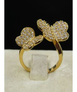NEOGLORY Ring With Two Small Butterflies