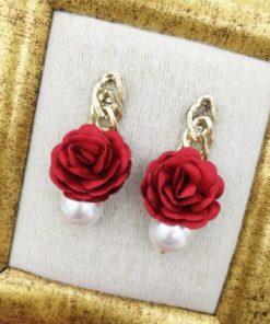 Flower & Pearl Earrings