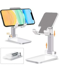 Fully Foldable Angle Height Adjustable Phone Holder Stand for Desk