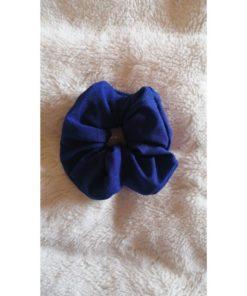Navy Elastic Scrunchies