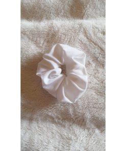 WhiteSatin Scrunchies