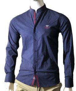 Men Long Sleeve Navy ShirtMen Long Sleeve Navy Shirt