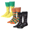 James Fiallo Men 3 Pairs Colorful Patterned Food Dress Socks