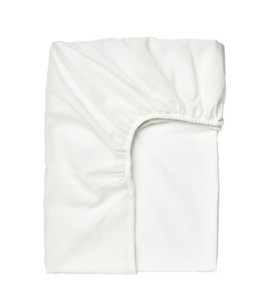 TAGGVALLMO Fitted Sheet White 90 x 200 cm