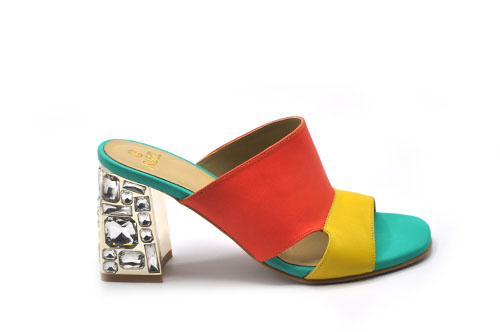 Colorful Heeled Sandals
