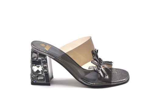 Transparent Heeled Sandals