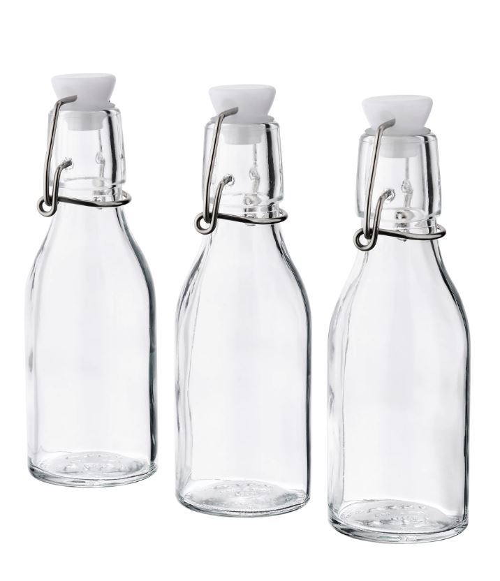 KORKEN 3 Pieces Bottle With Stopper Clear Glass 15 cl