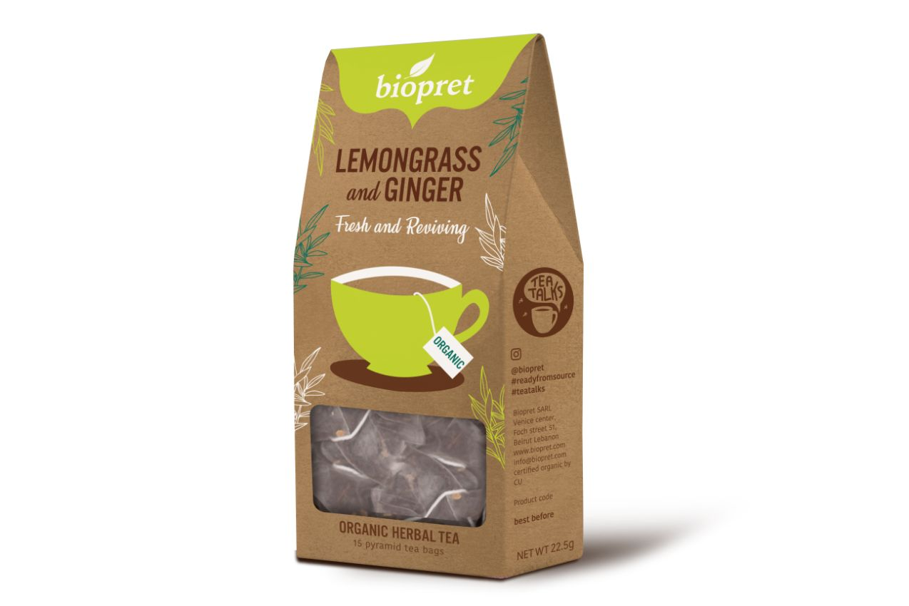 BIOPRET Lemongrass with Ginger Organic Tea