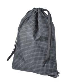 IKEA RENSARE Bag Check Pattern / Black 30x40 cm/8 l