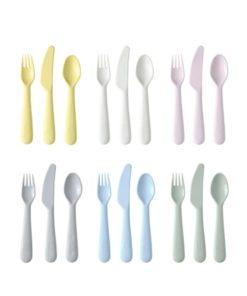 IKEA KALAS 18-Piece Cutlery Set Mixed Colors